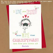 colouring personalised christmas card cloth