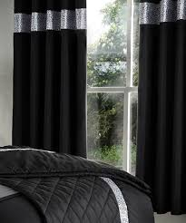 Black And Grey Curtains Curtain Black And Silver Curtains White Seasonal Sale Easeedding
