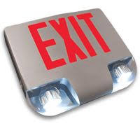 exit emergency light combo led combination exit sign double face emergency lighting