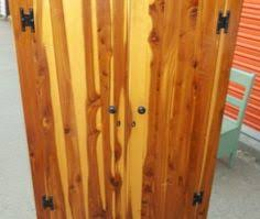 Cedar Wardrobe Armoire Genuine Solid Cedar Armoire Wardrobe Closet With By Oldmillvintage