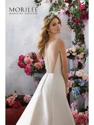 Ivory Wedding Dresses Mori Lee 6858 Melody Elegant A Line Wedding Dress Ivory