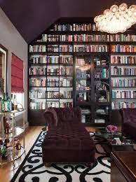 purple office paint color modern den library office benjamin