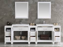 96 Bathroom Vanity 96 Inch White Finish Sink Traditional Bathroom Vanity With
