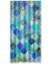 slash prices on hellodecor floral moroccan shower curtain
