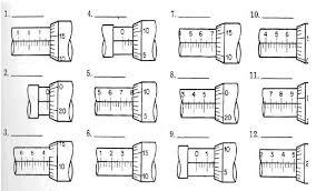 micrometer worksheet worksheets