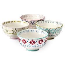 abigail floral stoneware cereal bowls 19oz set of 4 target