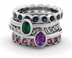 stackable birthstone rings for mothers stackable eternity mothers rings set with birthstones
