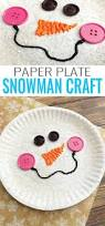 paper plate snowman craft winter crafts for kids easy peasy