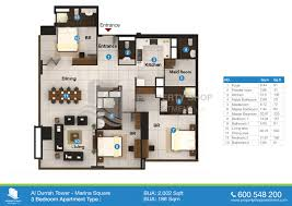 al durrah tower floor plan marina square