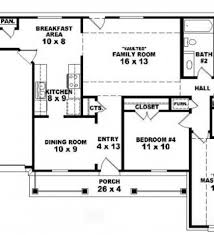 4 br house plans 4 bedroom bungalow floor plan residential house plans 4