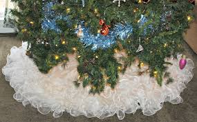 woman finds new use for wedding dress u2026 as a christmas tree skirt