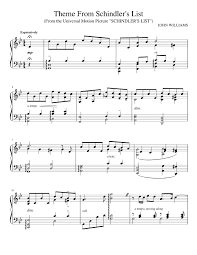 theme schindler s list cello theme from schindler s list piano solo sheet music for piano