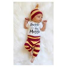 harry potter baby clothing set spiffy babies