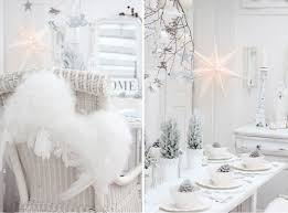 indoor winter wonderland white shabby chic christmas table decor