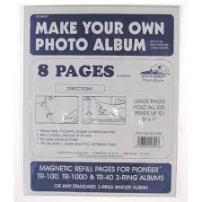pioneer 3 ring photo albums photo album refill pages 3 ring binder compare prices at nextag