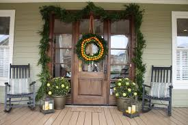 Outdoor Christmas Decorations Nashville by Christmas Front Door Decorations Traditional New York With Brown