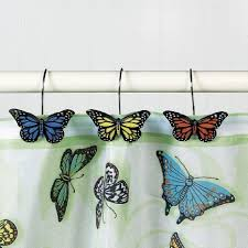 butterfly blessings shower curtain and hook set sea u0026 sand