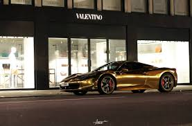 cars ferrari gold photo of the day gold chrome ferrari 458 spider in london gtspirit