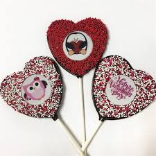 heart shaped chocolate shaped chocolate lollipops