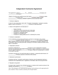 12 Vendor Agreement Template Rent 50 Free Independent Contractor Agreement Forms Templates