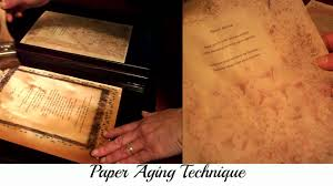 aging paper antiquing paper coffee technique difference between