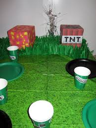 Minecraft Table Decorations A Minecraft Birthday Party