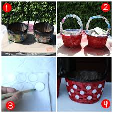 minnie mouse easter baskets diy mickey and minnie easter baskets this fairy tale