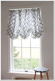 Pull Up Curtains In An Instant No Sew Window Treatment In My Own Style