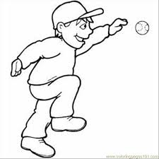 baseball glove coloring pages