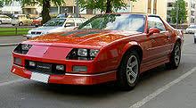 chevrolet camaro 1985 chevrolet camaro third generation