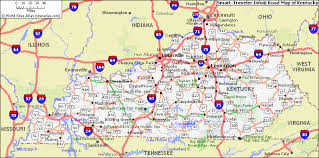 kentucky map kentucky map travelsfinders