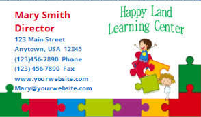childcare business cards child care business cards template 14 child care owner