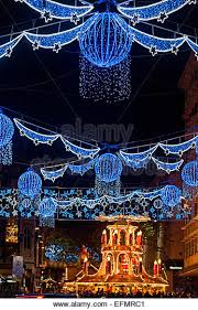German Christmas Light Decorations by Birmingham German Christmas Market Decorative Stock Photos