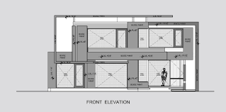 house elevation gallery of twin courtyard house charged voids 23