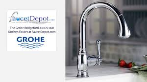 Kitchen Pullout Faucet by Grohe 33870000 Bridgeford Kitchen Pullout Faucets Youtube
