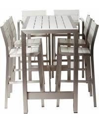 Bar Height Patio Table And Chairs Big Deal On Pangea Outdoor Betty Aluminum 7 Rectangular Bar
