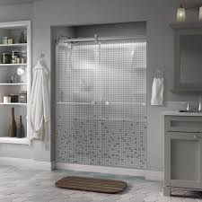 frameless shower glass doors delta silverton 60 in x 71 in semi frameless contemporary
