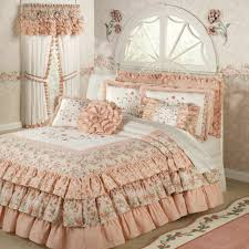 bedroom wonderful floral themes white ruffle bedding with white wonderful decorative white ruffle bedding with elegant jcpenny curtains for beautiful teenage girl bedroom design