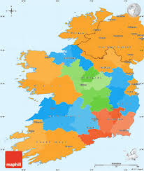 Map Ireland Political Simple Map Of Ireland