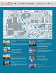 Atlanta Street Map Map Atlanta Convention Collection At Centennial Olympic Park