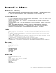 summary resume exles resume professional summary exle professional summary resume