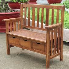 Patio Furniture Storage Bench Breakwater Bay Corbin Acacia Wood Storage Bench U0026 Reviews Wayfair