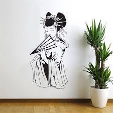 popular oriental wall murals decals buy cheap oriental wall murals popular oriental woman girl japanese geisha wall decal home decorwall sticker art vinyl mural living room