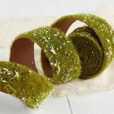 moss ribbon frosted artificial moss ribbon fairy garden miniatures