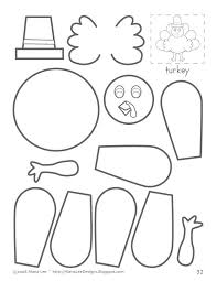 turkey cutout printables happy thanksgiving