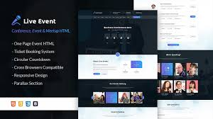 live event template live event conference u0026 meetup html template