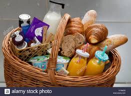 breakfast basket breakfast basket orange juice dairy produces jam milk bread