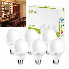 white vanity light bulbs 6 x g25 led globe vanity bulbs 5w 40w equivalent 2700k warm white