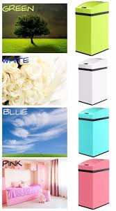 Green Kitchen Trash Can 7l 1 85 Gallon Mini Infrared Stainless Steel Garbage Touchless