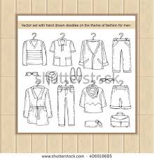 vector set hand drawn isolated doodles stock vector 406919605